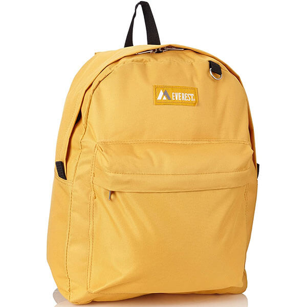 Durable Yellow Outdoor Backpack for Adults