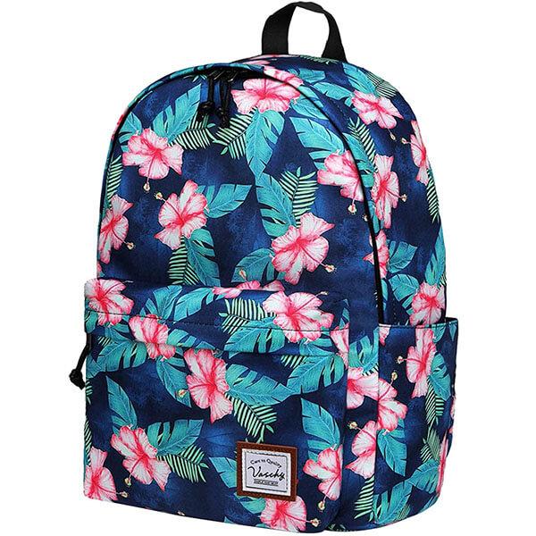 Hibiscus Flowers Print Hawaiian Backpack