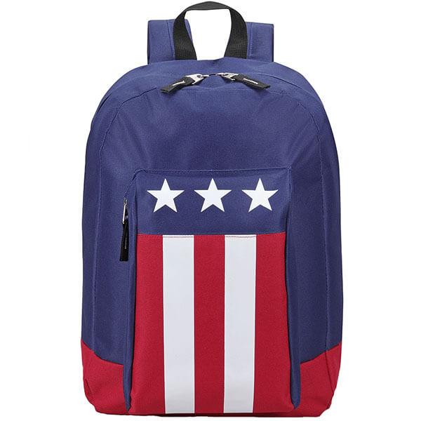 Large-Sized Fashionable PVC USA Flag Backpack