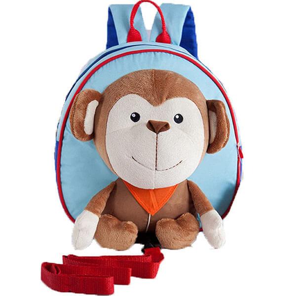 Monkey Cartoon Blue Backpack