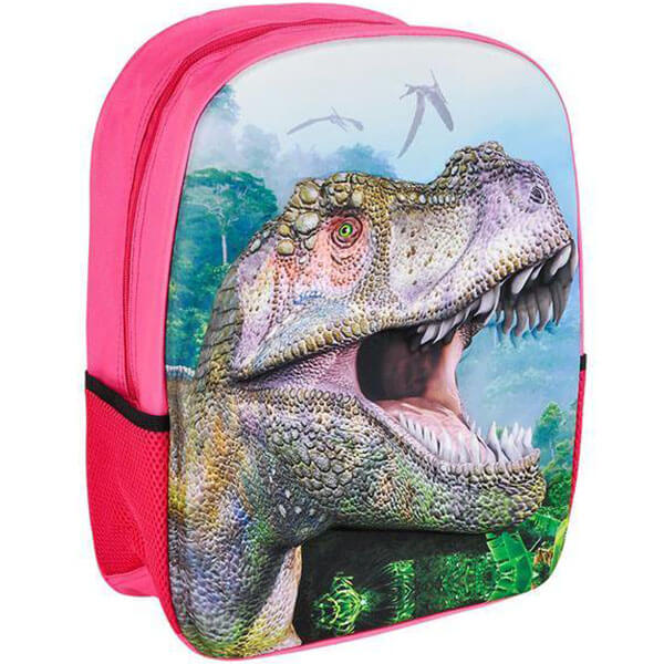 Pink Foam Dinosaur Themed Book Bag