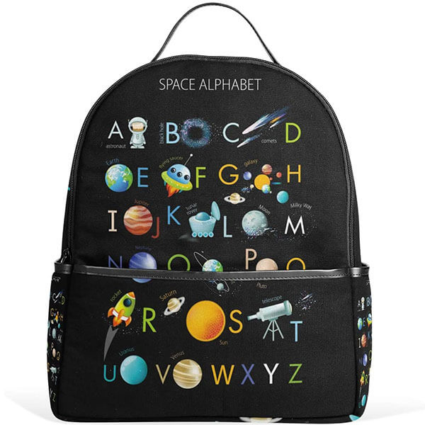 Space Alphabet Backpack for Kids and Toddlers