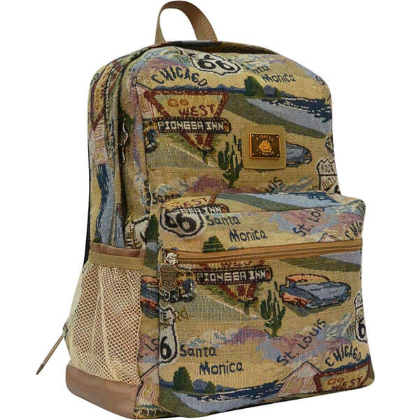Unisex Route-66 School Backpack