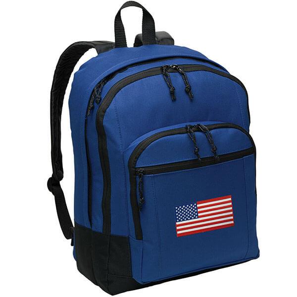 American Flag Blue Backpack