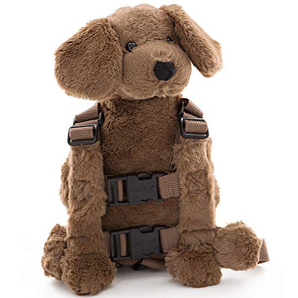 Naughty Dog Backpack with Safety Leash