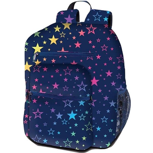 Rainbow Star Roomy Backpack