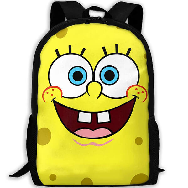 Water-Resistant Backpack with SpongeBob Face