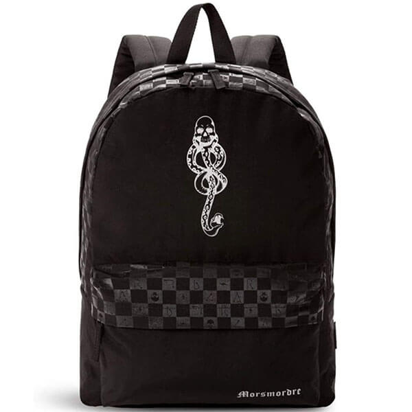 Checkerboard Motif Slytherin Dark Arts Backpack