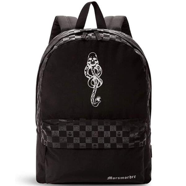Checkerboard Motif Slytherin Dark Arts Backpack