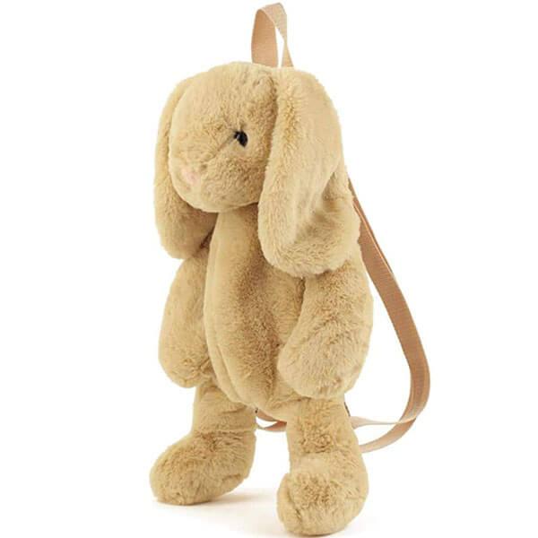 Khaki Rabbit Plush Backpack for Children