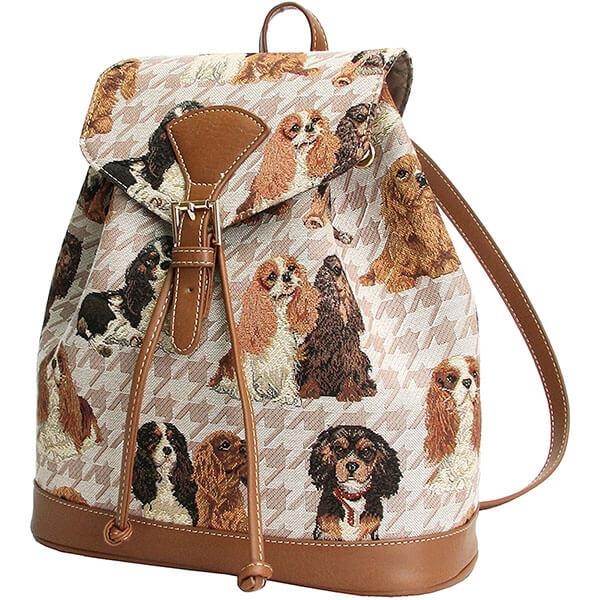 Cute Spaniel Dog Print Women Purse