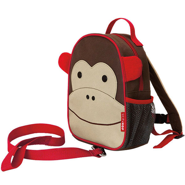 Monkey Small-Sized School Backpack