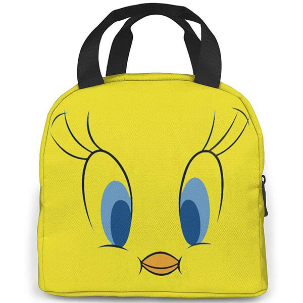 Oxford Yellow Colored Cartoon Bird Lunch Bag