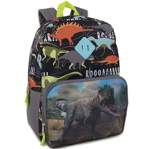 Picture Changing Canvas Lenticular T Rex Backpack