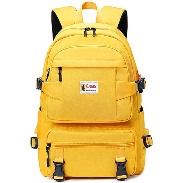 Ergonomic Oxford Gold Backpack for Outdoors