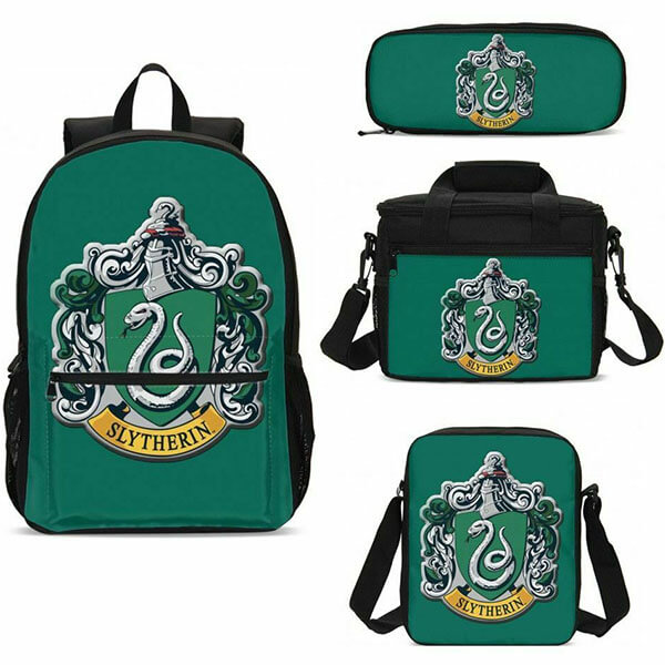 Harry Potter Slytherin Backpack Set With Lunch Bag