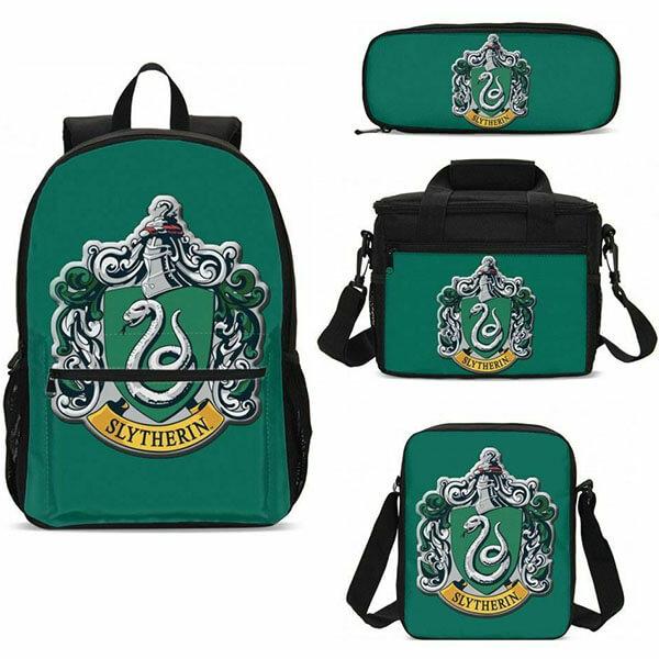 Harry Potter Slytherin Backpack Set With Lunch Bag