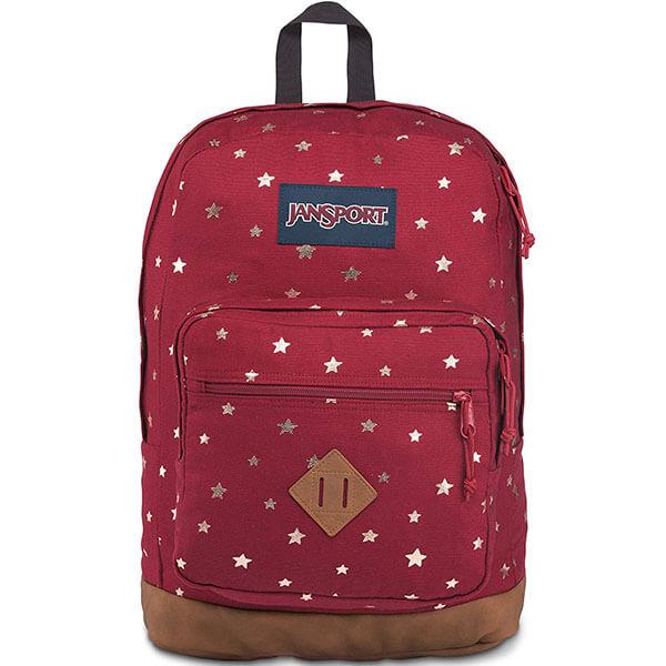 JanSport Red Golden Stars Backpack