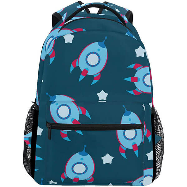 Peacock Blue Spaceship Backpack