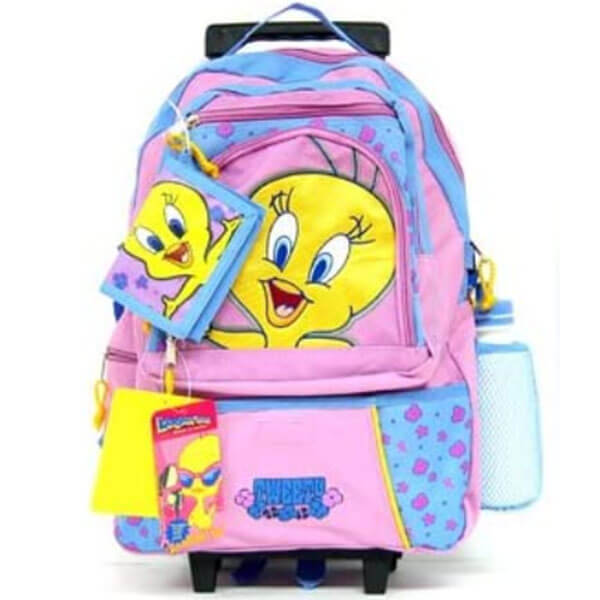 Tweety Rolling Backpack with Wallet