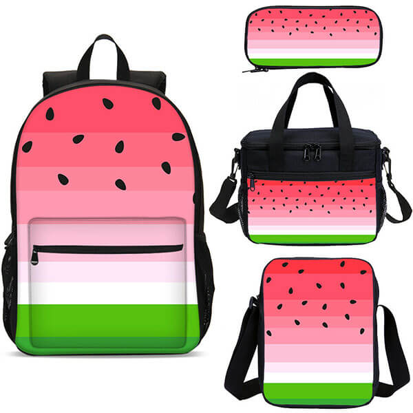 4in1 Ergonomic Watermelon Backpack Set