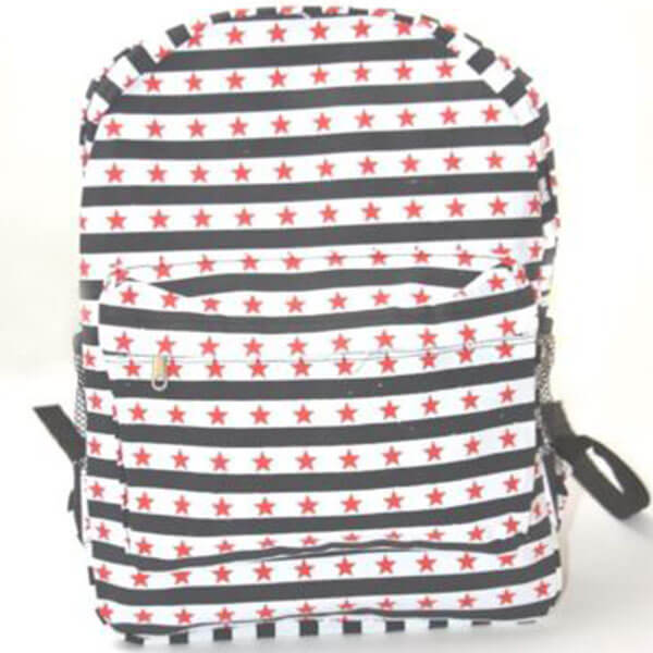 Black and White Striped Stars Backpack