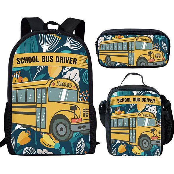 Trendy 3 Pcs Teenager School Backpack Set