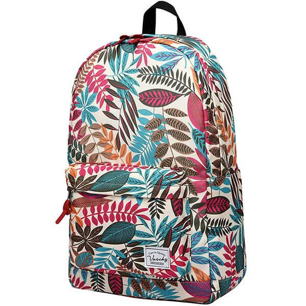 Vintage Leaves Print Hawaiian Backpack