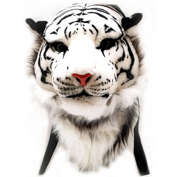 Siberian Tiger Head Plush Backpack for Kids