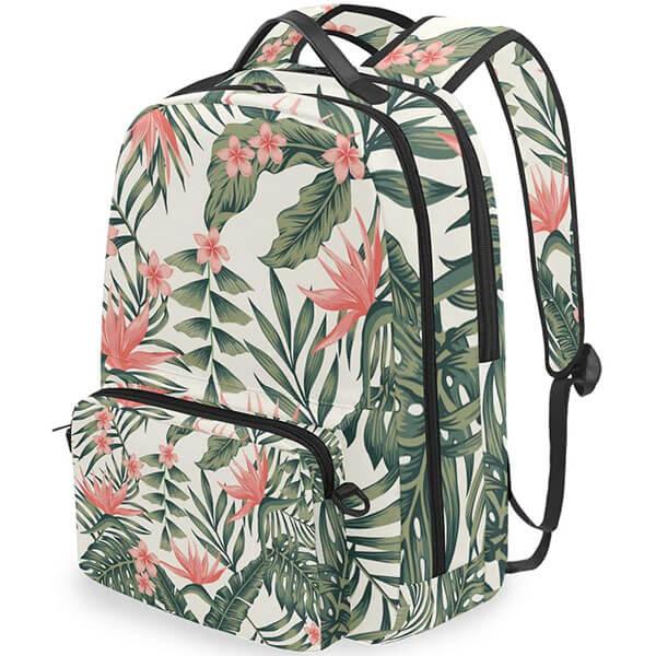 Twill Cloth Fabric Hawaiian Backpack