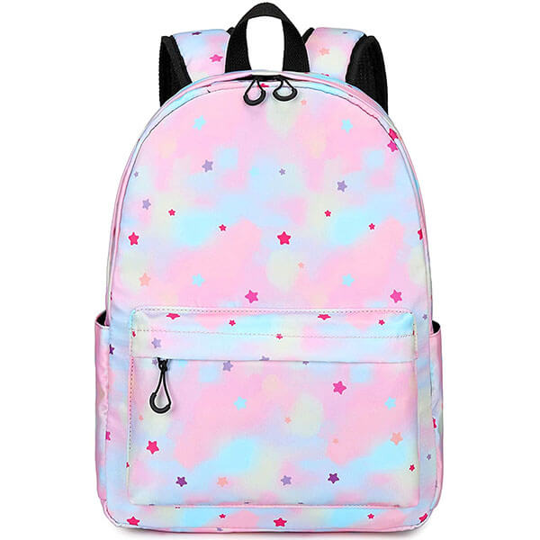 Water-Resistant Rainbow Stars Backpack