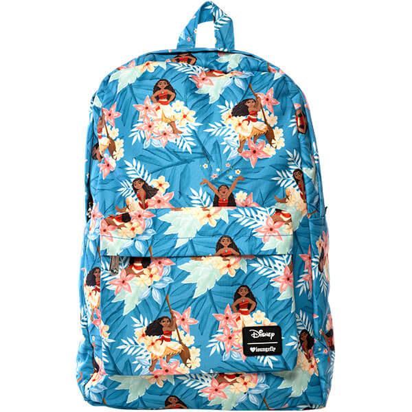 Nylon Blue Hawaiian print Backpack