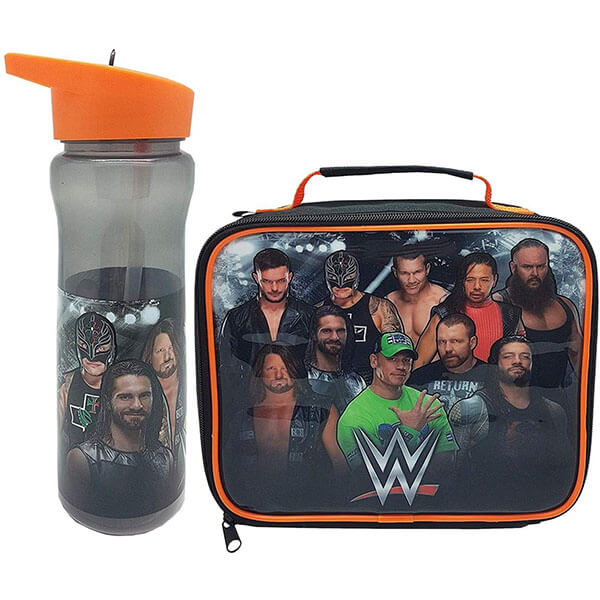 WWE Lunch Bag with Sports Bottle