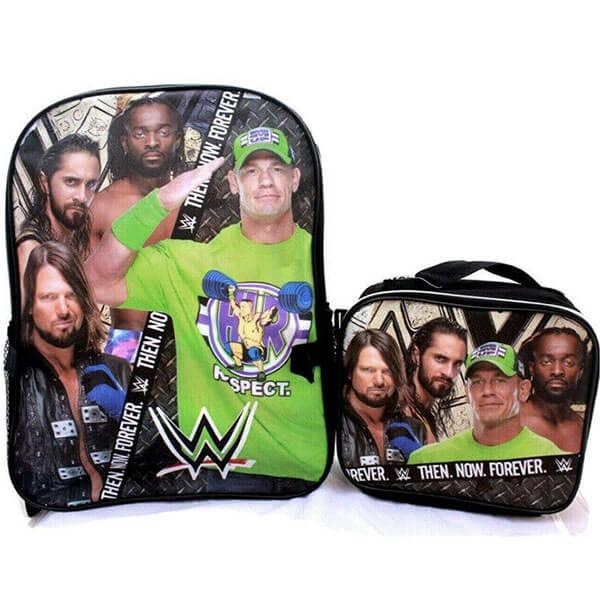 2 in 1 WWE Superstars School Backpack set