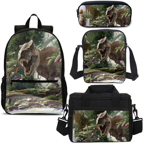 4in1 T-Rex Backpack Full Set for School