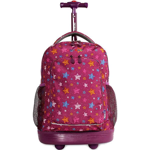 Stars School Rolling Backpack