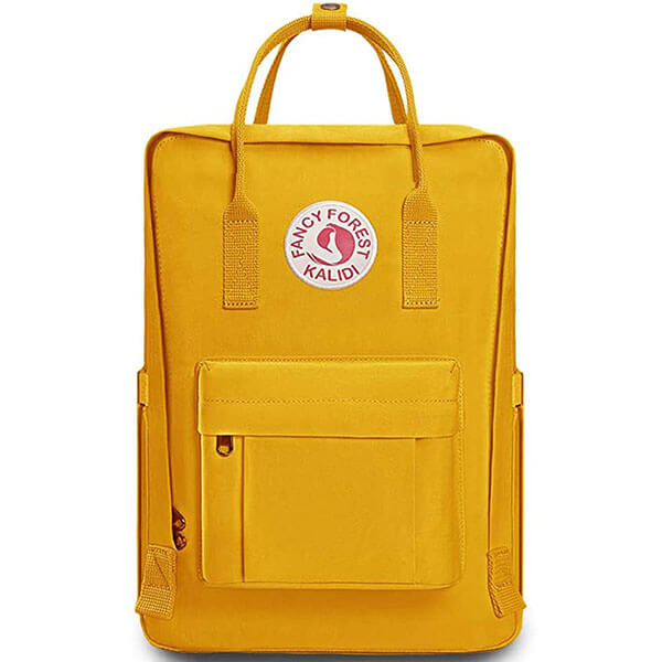 Personalized Fancy Forest Yellow Backpack