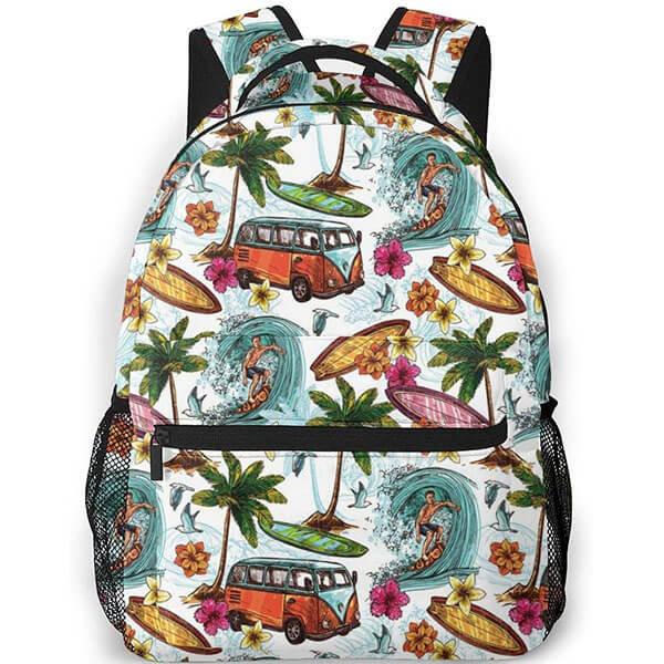 Sea Retro Print Hawaiian Backpack