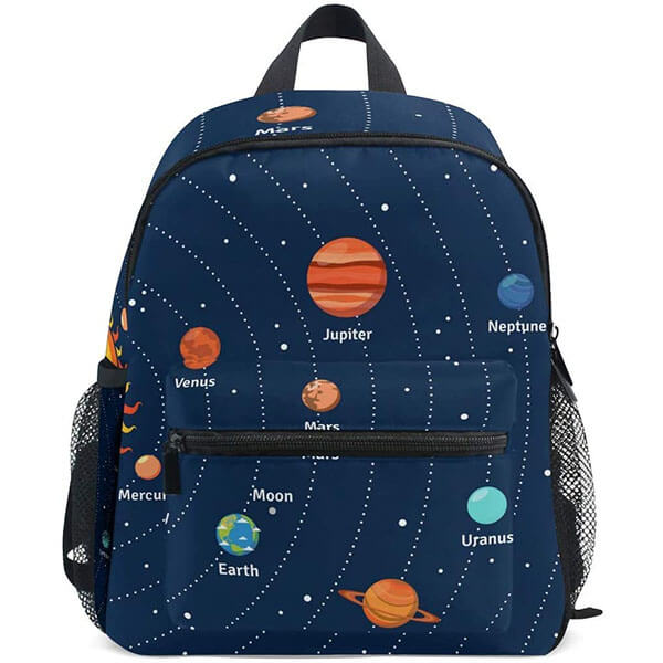 Printed Planets And Orbits Educational Backpack