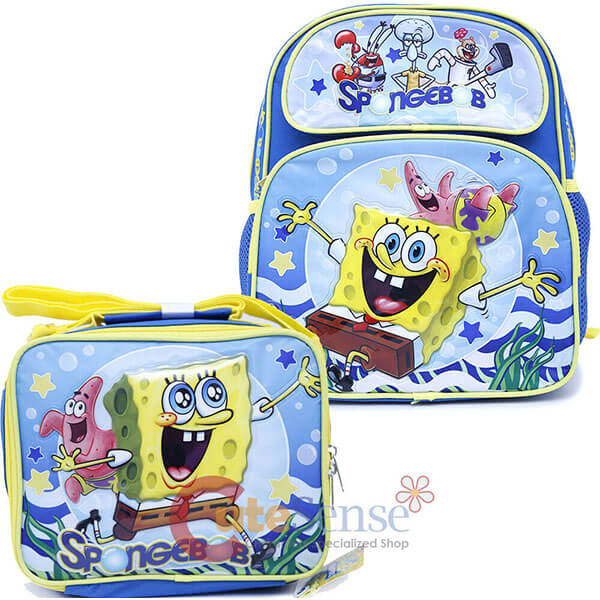 2in1 SpongeBob Backpack Set for School