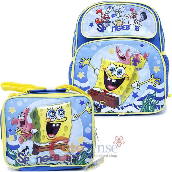 2in1 SpongeBob Backpack Set for School