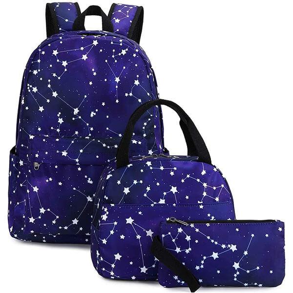 Large-Sized Stars Constellation Backpack Set