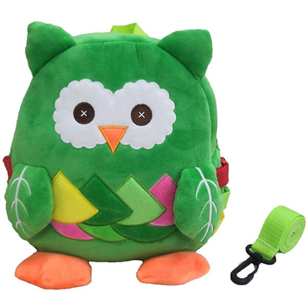 Owl Backpack with Leash and Buckle