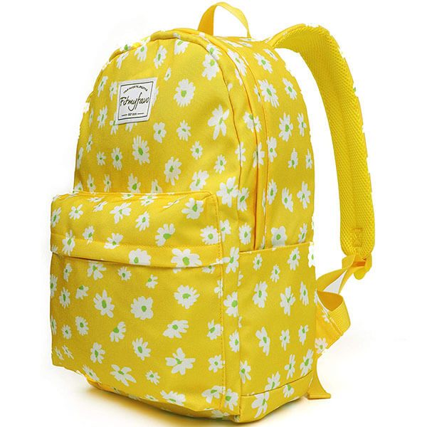 Yellow Daisy Personalized Backpack for Kids