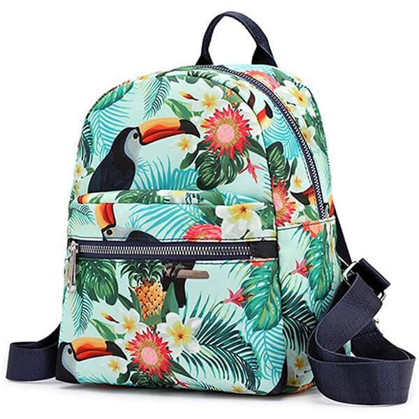 Birds Pineapple Print Hawaiian Mini Backpack
