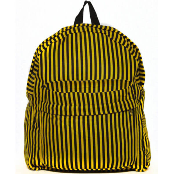 Black Striped Yellow Backpack