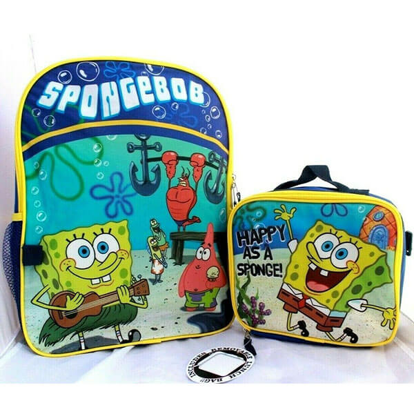 Happy As a Sponge Backpack with Lunch Bag