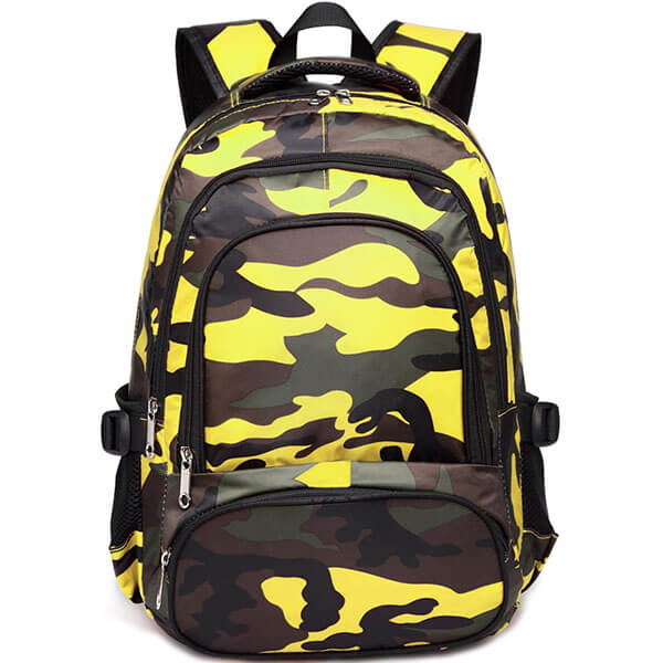 Yellow Camouflage Laptop Backpack