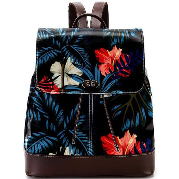 Anti-thief Feature Hawaiian Print Backpack