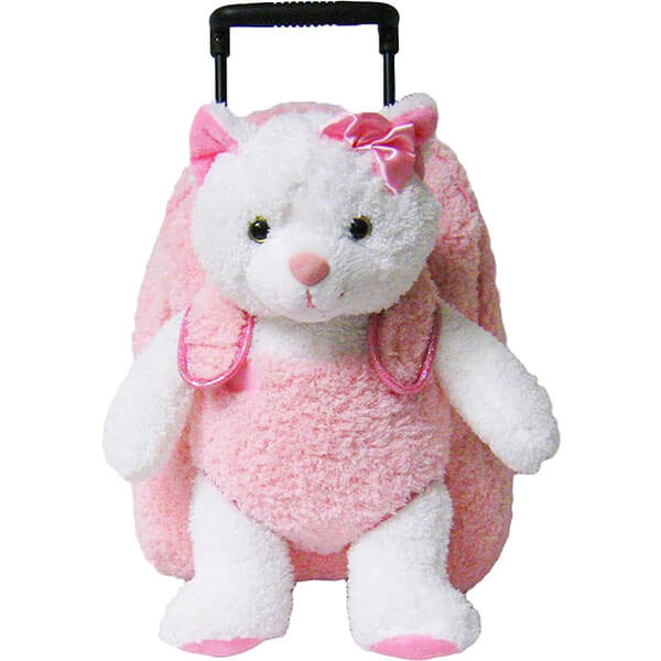 Pink Kitty Cat Rolling Backpack